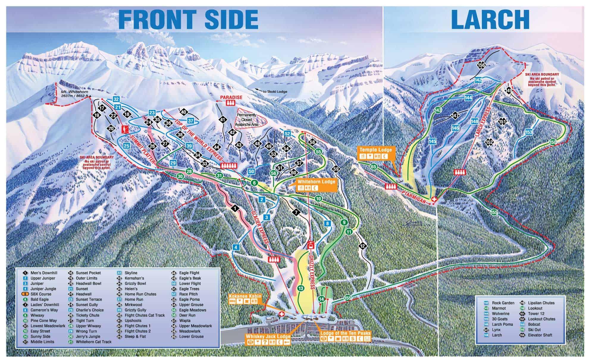 Lake Louise Map Lake Louise Trail Map | Lake Louise Map | Mountainwatch