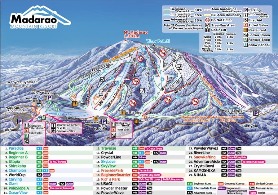 Madarao Kogen map