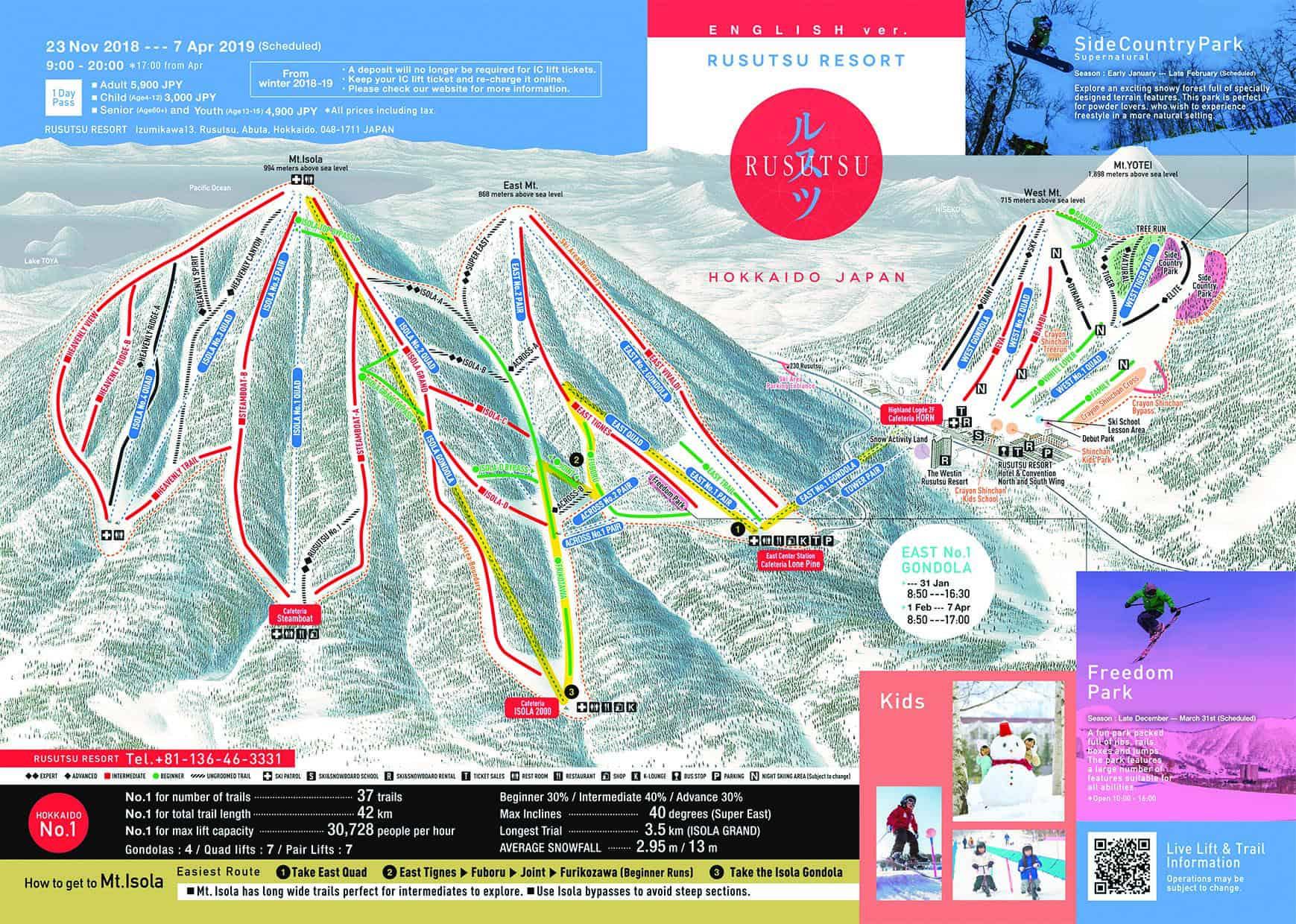 Rusutsu Trailmap