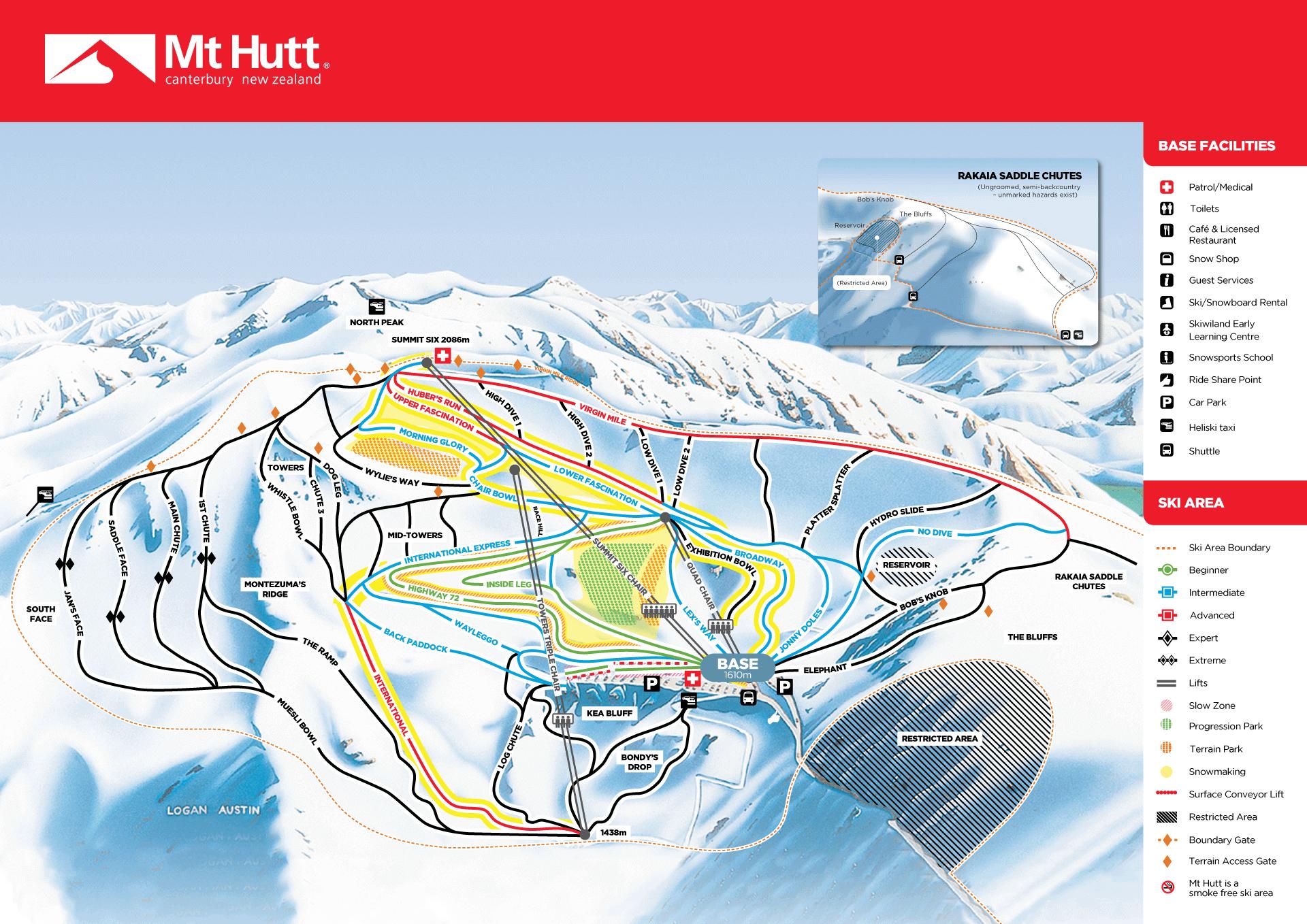 Mount Hutt map