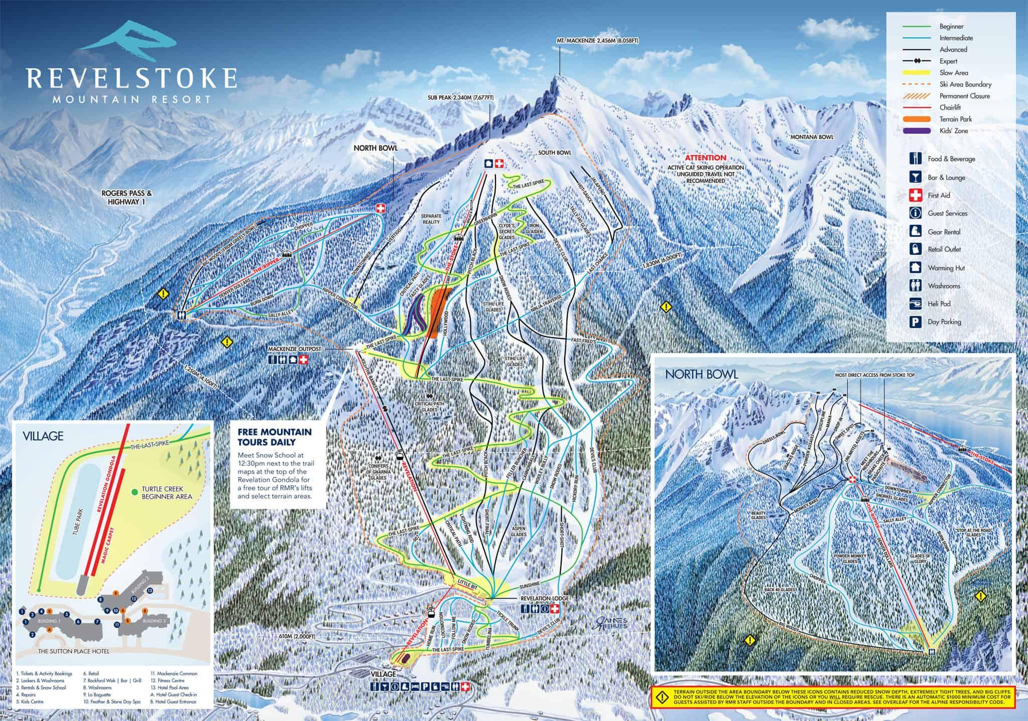 Revelstoke map