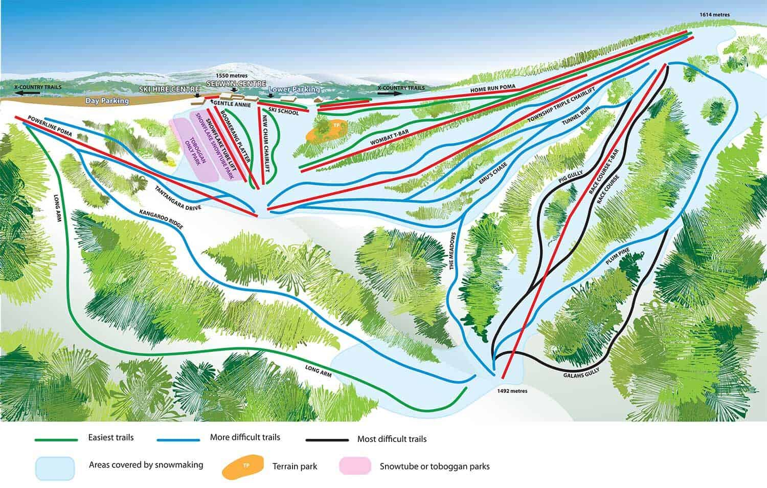 Selwyn Snow Resort Trailmap