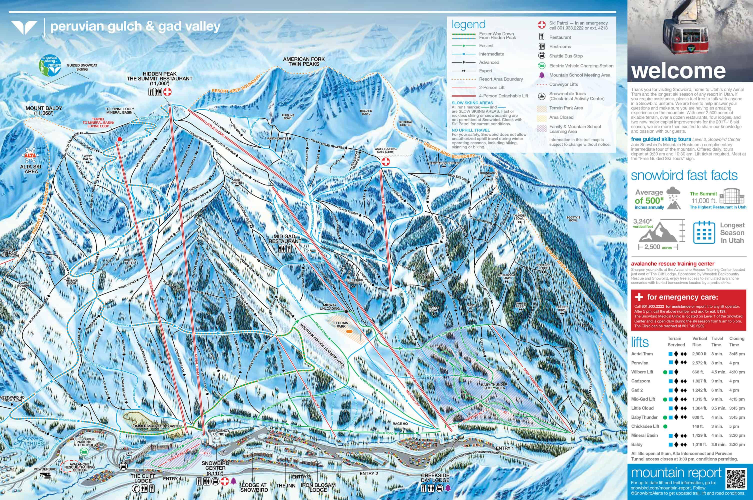 Snowbird Trailmap