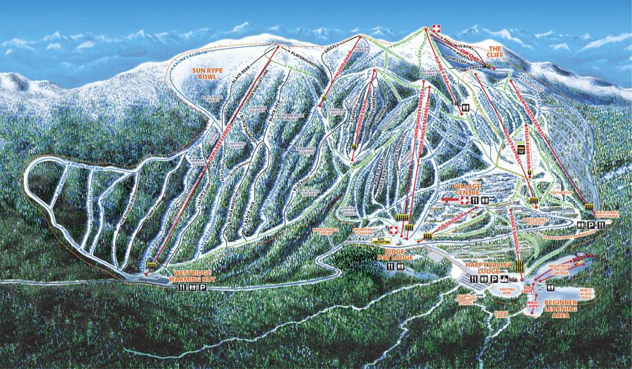 Big White Trailmap