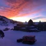 The historic Kosciuszko Chalet at dawn.
