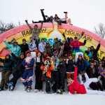 The whole crew atop Rainbow Mountain. Image:: Thredbo