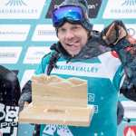 Travis Rice after last year's win in Hakuba. Photo: FWT