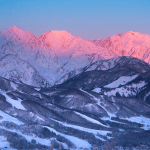 Blue skis and incredible sunrises over the last couple of weeks in Hakuba photo: @jacksmitharthur