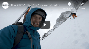 The Fifty - Cody Townsend's Quest to Ski The Fifty Classic Descents Of North America. Episode 6, Aemmer Couloir, Mount Temple, Banff