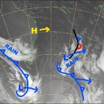 Conditions will deteriorate later today as that not-so-cold front hits. Source: NZ Metservice (vandalised by the Grasshopper)