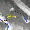 High pressure and sunshine is lined up for this working week. Source: NZ Metservice (vandalised by the Grasshopper)