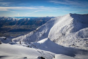 Early season conditions in The Remarkable's Shadow Basin, but still some fun t be had. Photo: The Remarkables