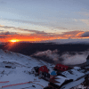 Sunrise over Cardrona - but dodgy weather on the way.