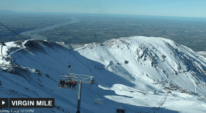 A fine day in Mt Hutt today, with the Canterbury plains and the Pacific Ocean in the background. Next weekend could be a different story with snow on the way.