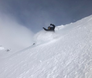 Powder turns in Cardrona yesterday and there has been mote snow in the past 24 hours. Photo: Matt