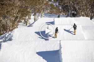Snowboarder Matt Cox Cruising Through Perisher Parks - Video