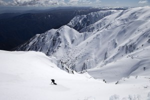 Virgil, dropping into a nice line on the Western faces.