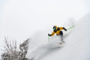 Mitch Reeves, just another August powder day. Photo: Tony Harrington