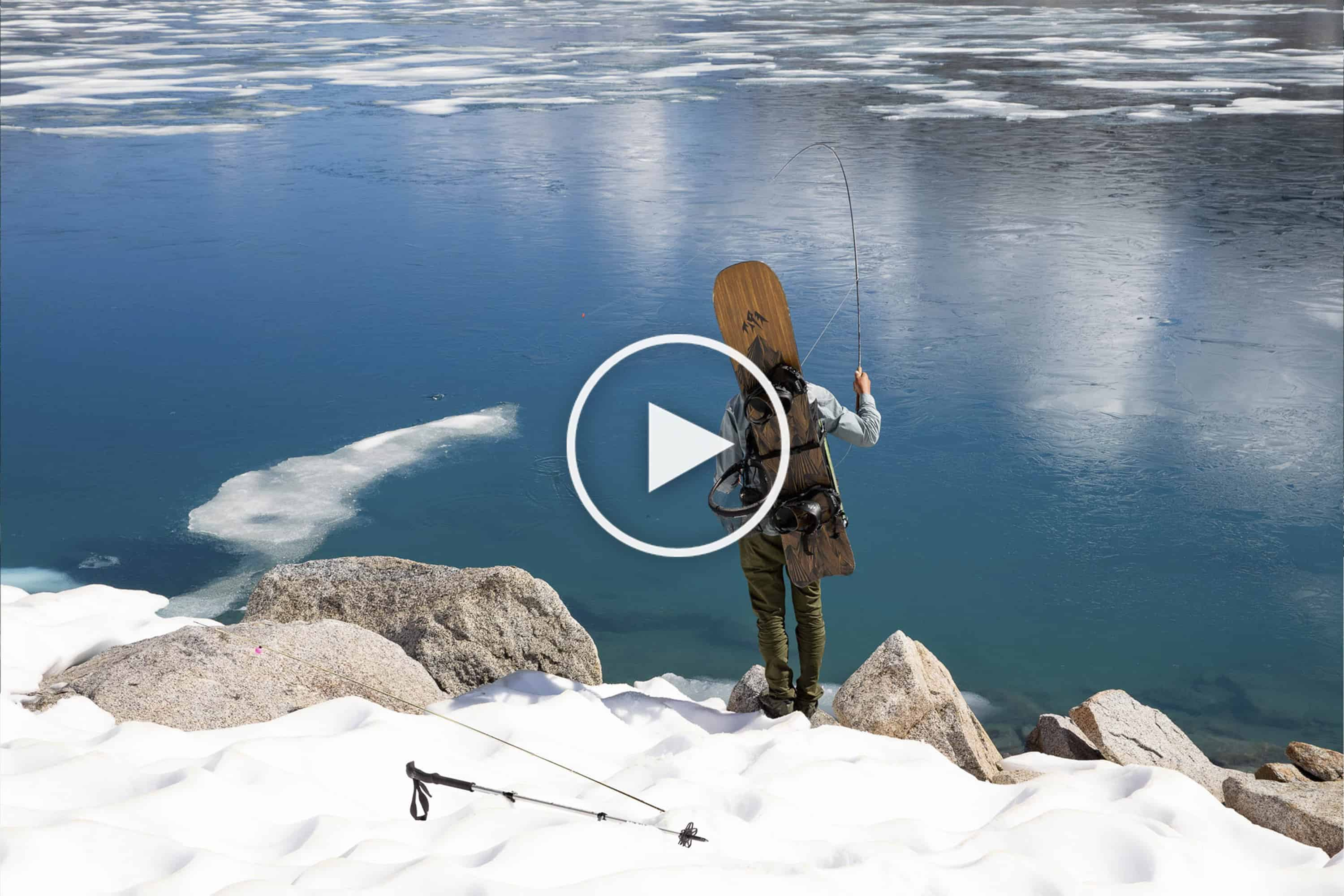 Blue Water High Cast cast & carve - summer fishing and snowboarding in the high