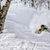 KC Deane  skiing at Suginohara