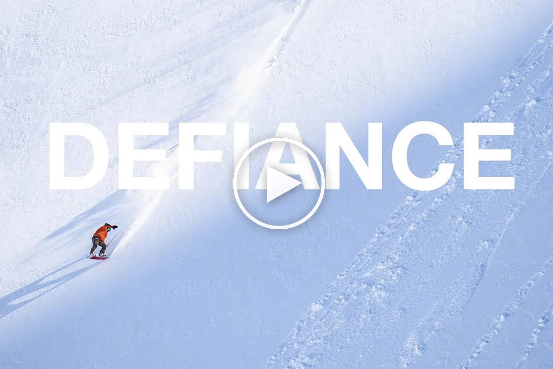 Defiance - A Must Watch Snowboard Film Featuring Victor De Le Rue, Leanne Pelosi and Jake Blauvelt