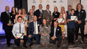Award winners at the Snow Australia Community Sports Awards. Photo: Steve Cuff