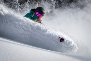 There was some quality Utah powder in Snowbird last Monday after 40cms of fresh snow overnight.  Photo: Chris Segal
