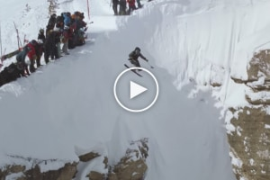 Sit Skier Trevor Kenninson Launches The Infamous Corbet's Couloir in Jackson Hole - Not to be Missed Video