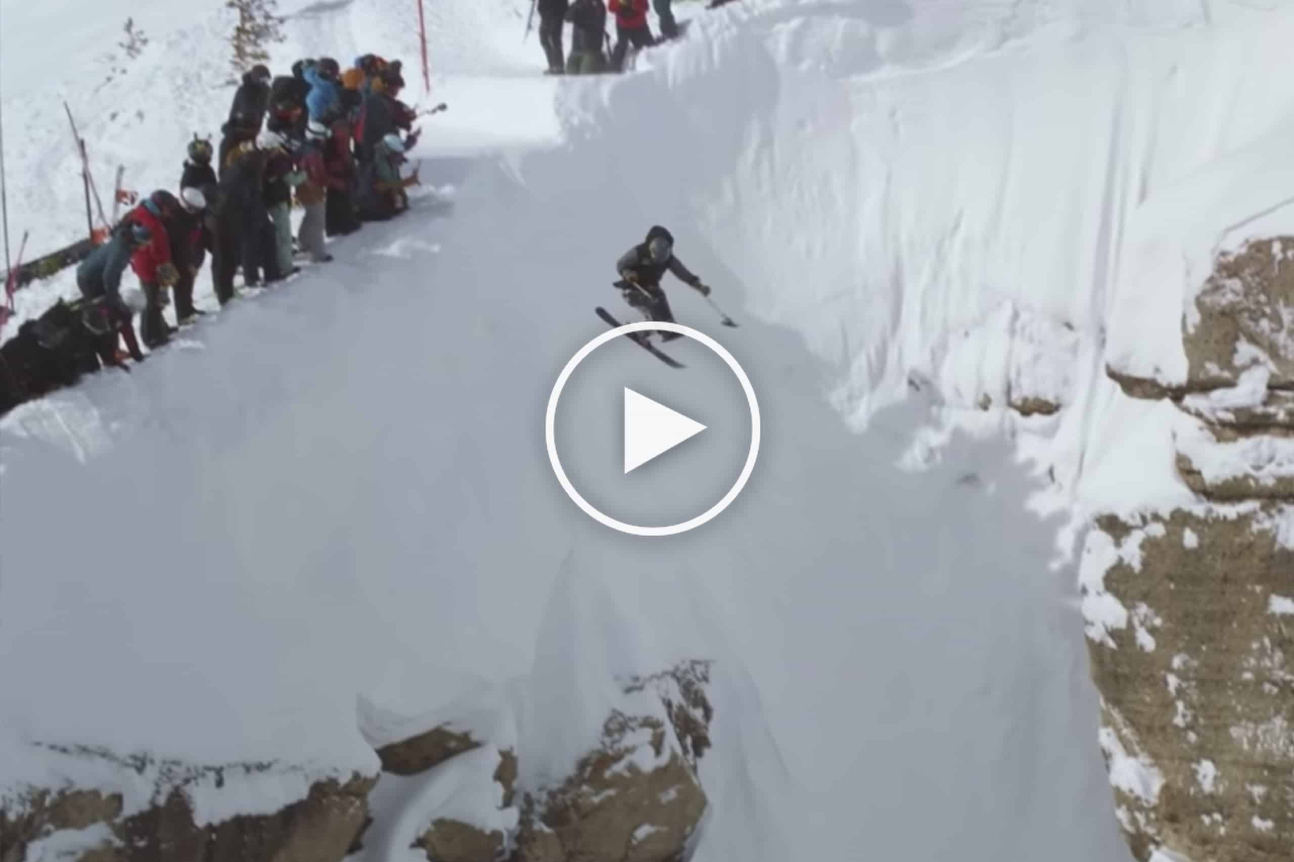 Sit Skier Trevor Kenninson Launches Jackson Hole's Infamous Corbet's Couloir - Not to be Missed Video