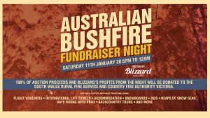 Bushfire Fundraiser In Hakuba,This Saturday Jan 11 - All Funds Raised Going to Victorian CFA and New South Wales RFS