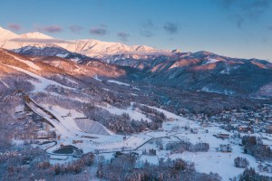 Hakuba looking good on  blah blah at sunrise