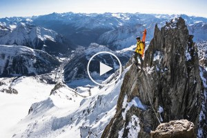 Nikolai Schirmer and Friends Ski Ridiculously Steep Lines and 9000 feet of Vertical In Chamonix-Mont Blanc