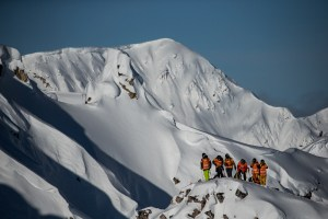 The FWT event in Kicking Horse had enjoyed excellent conditions. Photo: Freeride World Tour/