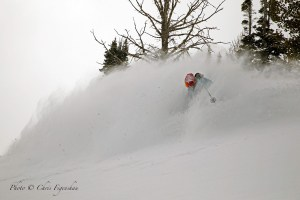 Sam Schwartz enjoying the powder in Jackson on March 10. Photo: Chris Figenshau