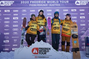 2020 World Champions, left to right: Arinna Tricomi, Mariona Haerty, Isaac Freelander, Nils Mindnich. Photo: J Bernard/FWT
