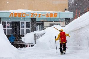 A record slow year in Hakkoda still sees 2-metre-high snowbanks. Photo:: Matt Wiseman