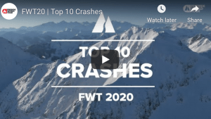 Freeride World Tour – Top 10 Crashes of the 2020 Season. Video