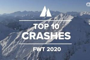 Freeride World Tour - Top 10 Crashes of the 2020 Season. Video