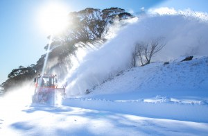 Road clearing at Perisher yesterday. Not a sight you often see on May 3. Photo: Perisher