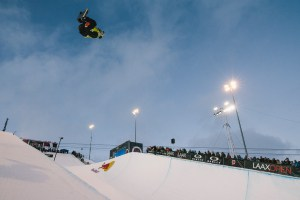 Scotty James performs at the Laax Open 2020 Halfpipe Finals in Laax, Switzerland on January 18, 2020 // Dominic Berchtold / Red Bull Content Pool // AP-22UV725KH1W11 // Usage for editorial use only //