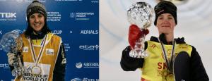 Kaura Peel and Scotty James, joint athletes of the year. Photo: Snow Australia