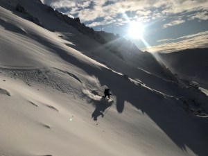 Mt Hutt patrol team checking out the early season snowpack  this weekend. Photo: NZSki