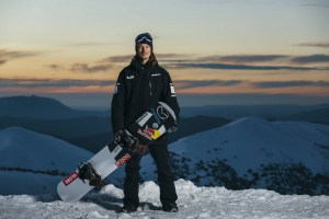 Alex 'Chumpyâ Pullin poses for a portrait at Mount Hotham, Victoria, Australia on August 20, 2017 // Andy Green/Red Bull Content Pool