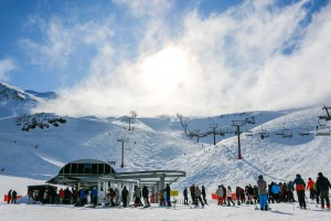 Mt Hutt yesterday. After a top up early in the weekend there are sunny days ahead for the South Island resorts.