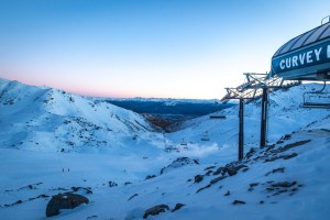 The Remarkables has been only open on weekends and while it's a little low tide, the snowmakers have topped up the groomers and the terrain parks are in great shape. Photo: NZSki