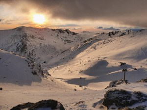 The Remarkables yesterday, but the weather is changing with a heap of snow on the way this week. Photo: NZSki