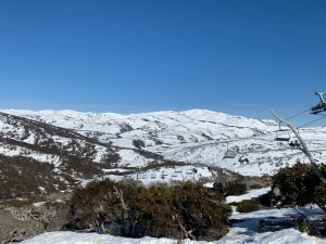 The view from the top Guthega towards the Man Range on another day. Photo: Elliss