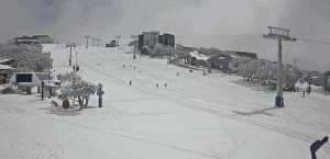 A still from Buller's Burke St snow cam, 1.15pm, September 26.
