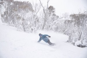 August 22 was your classic Aussie storm day, a day to head for the trees. Photo: Thredbo
