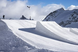 Australia's Matty Cox, in Saas Fee preparing for the upcoming World Cup season.
